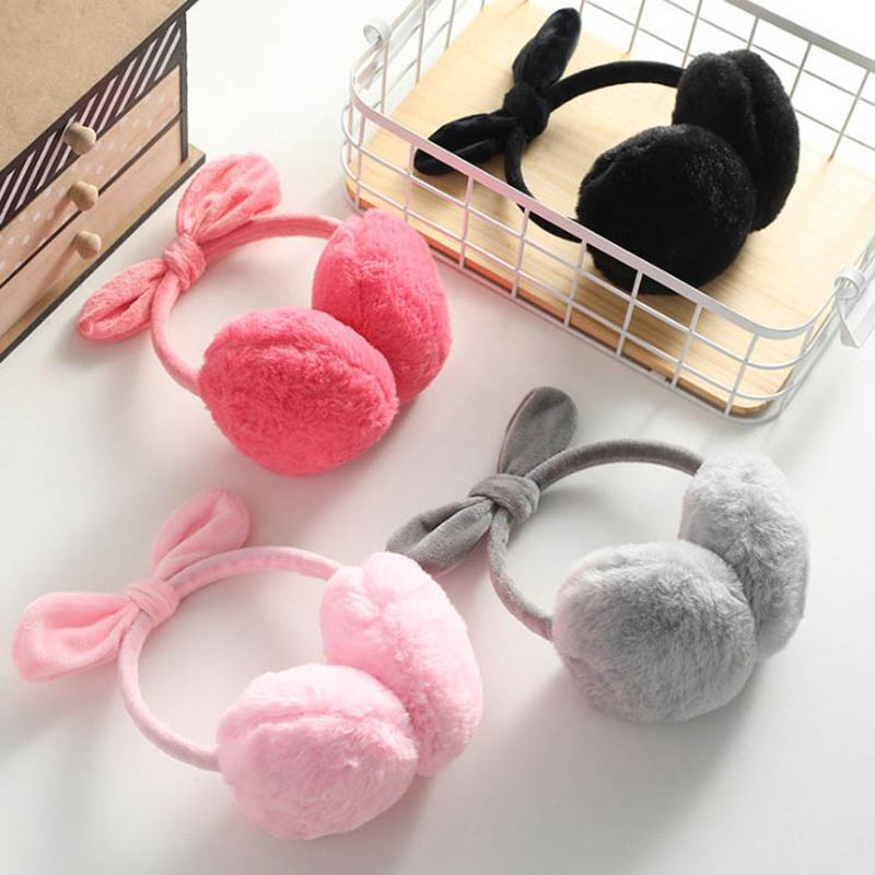 Calymel Winter Autumn Warm Faux Fur Earmuffs Cute Cat Ear Earflap Plush Earmuff For Girls Ladies Women Hairbands Ear Muffs