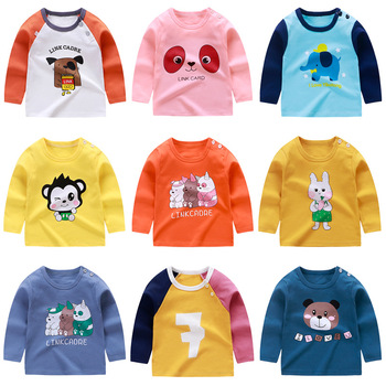 Spring Autumn Baby Boys T Shirts Toddler Girl Clothes Cartoon Long Sleeve Shirt Outfits Clothes New Casual Tops футболка Poleras image