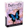 Новейшие карты-бабочки для преобразования жизни, карты Таро, таинственные гадания, колода Таро для женщин, девочек, настольная игра, 44 шт.