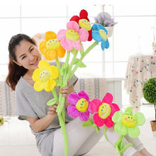8-color Plush flower decoration plant sunflower wedding party home decoration cartoon sunflower plush toy(China)