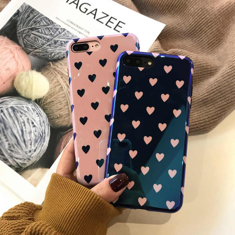 Dễ Thương Nhỏ Fresh Love Điện Thoại Di Động Dành Cho iPhone X XS XR Xsmax 8 7 6 6S 6S Plus Sáng Tạo nữ Vỏ Mềm Thả Vỏ Bảo Vệ