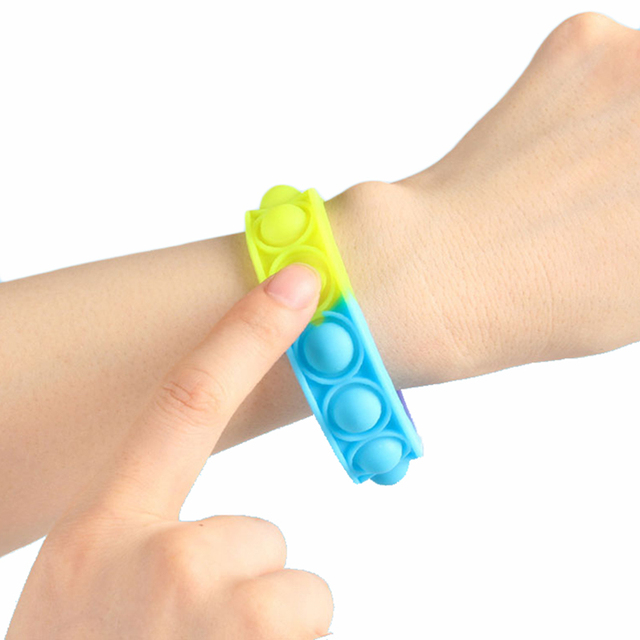 New Fidget Toys For Children Push Bubble Dimple Bracelet Decompression Toy Adults Anti Stress Reliever Sensory Toy Kids Gift 2