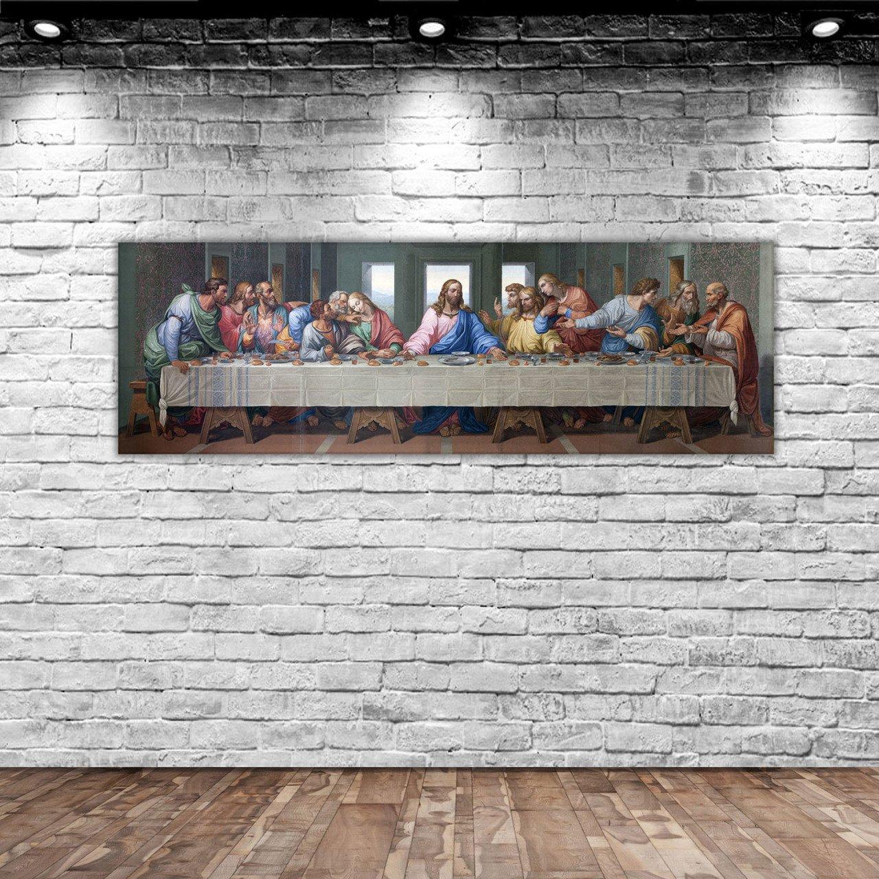 BK Home Da Vinci 'S Latest Evening Dinner Panorama Canvas Table 100x35cm-1