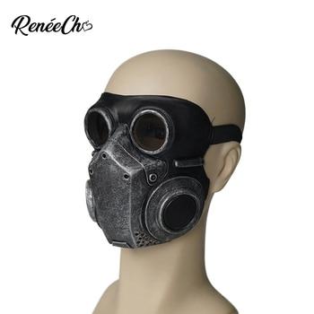Reneecho Steampunk גברים גז מסכת הנשמה קוספליי יוניסקס לטקס מסכת ליל כל הקדושים תלבושות נכס Masquerade מסכות נשים בגיל ההתבגרות