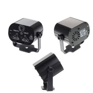 Image 4 - 60 דפוסים מיני מקורה DJ LED אפקט לייזר שלב אור שלט רחוק אפקט אור עבור עסקים תאורת KTV בר המפלגה מנורה