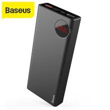 Baseus 20000mAh güç bankası 18W PD3.0 hızlı şarj açık seyahat şarj cihazı harici pil taşınabilir Powerbank iPhone Xiaomi için