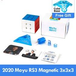 Moyu rs3 m cubo mágico magnético, mais novo 2020, 3x3x3, cubo mágico mf3rs3 m 3x3, magico cubo rs3m cubo magnético 3*3 quebra-cabeça de velocidade brinquedos para crianças