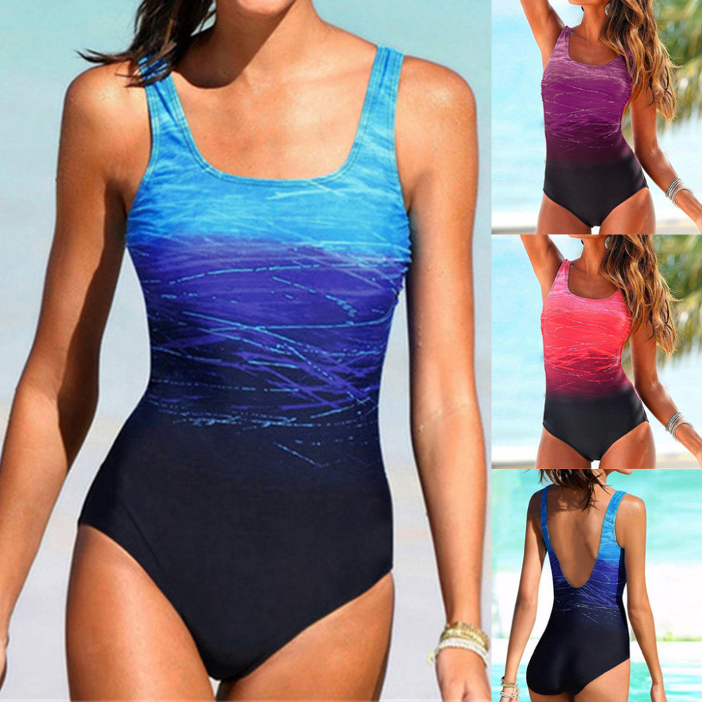 Bikinis 2019 Women Swimming One-piece Padded Sexy mujer Swimsuit Monokini Push Up Bikini Set Swimwear Cover up Maillot de bain