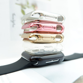 360 slim watch cover for apple watch case 5 4 3 2 1 42mm 38mm soft clear tpu screen protector for iwatch 4 3 44mm 40mm Watch case ultra-thin Cover for Apple Watch Case 3 2 1 42mm 38mm Soft Clear TPU Screen Protector for iWatch 5 4 44mm 40mm case
