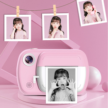 Children Christmas Gift Instant Print Camera For Kids 1080P HD Camera With Thermal Photo Paper Toys Camera For Birthday Gifts