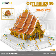 World Famous Architecture Thailand Palace historical and cultural city DIY Diamond Building Cartoon Blocks Brick Kids Toy Gift