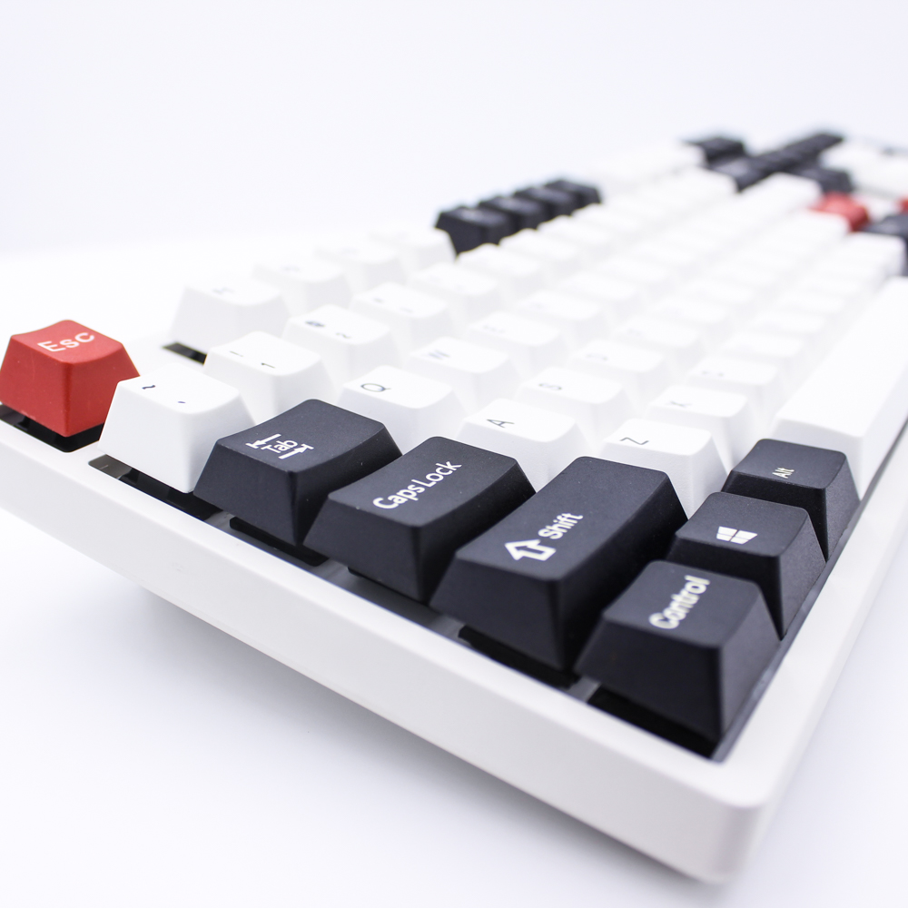 MP Dye-Sublimated Black/Red Keycap 87/108 Keys Thick PBT Keycaps  MX Switch Cherry/NOPPOO/Flick Mechanical Keyboard Keycap