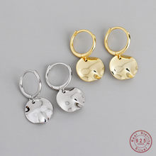 Orecchini pendenti geometrici rotondi in argento Sterling 925 per donna accessori per gioielli da sposa semplici da festa retrò regalo fidanzata