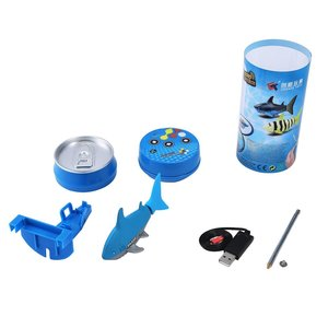 Mini RC Submarine 4 CH Remote Small Sharks with USB Remote Control Toy New Fish Boat Best Christmas Gift for Children Kids