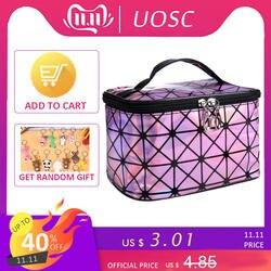 UOSC многофункциональная сумка для косметики для женщин кожа дорожный макияж первой необходимости Организатор молния сумка для путешествий