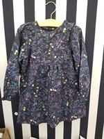 Autumn Girls Dress Long Sleeve Baby Girls Dresses Floral Pattern Ruffles Cotton Dress Boutique Kids Costume