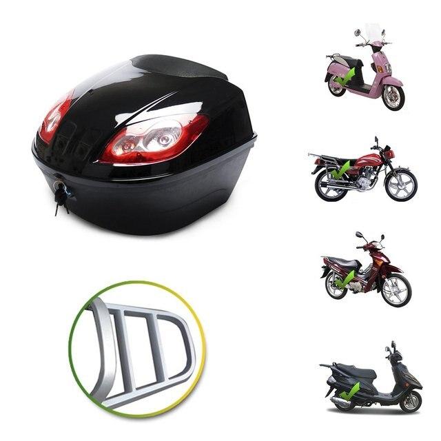 E-bike caixa de cauda scooter elétrico tronco da motocicleta superior caso duro capacete caso de armazenamento caso de bagagem com lâmpada reflexiva