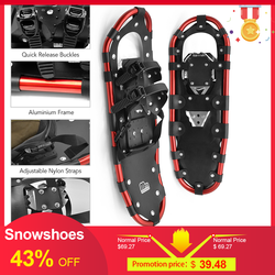 Outdoor Snowshoes Aluminum Adjustable Bindings Ski Carrying Tote Bag Practical Durable For Women Men 25 /27 /29 inch 3 Colors