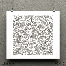 ZhuoAng Marine fish model Clear Stamps For DIY Scrapbooking/Card Making Decorative Silicon Stamp Crafts