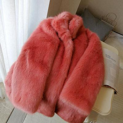 2020 New Style High-end Fashion Women Faux Fur Coat S87