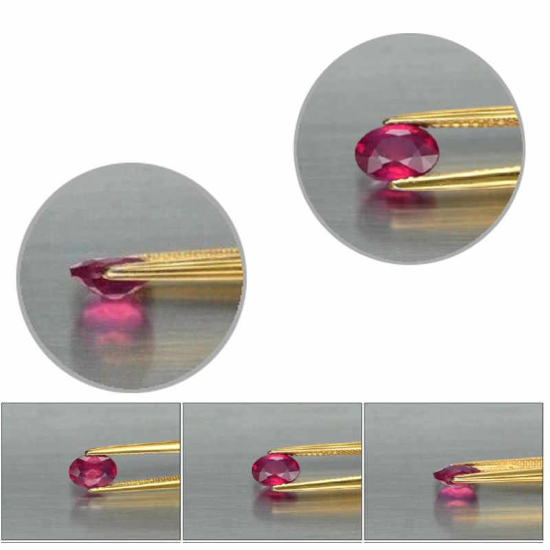 高品質 7x5 ミリメートルオーバル AAAAA 品質ルースザクロ赤石ラウンドブリリアントカットコランダム石合成宝石のためのジュエリー