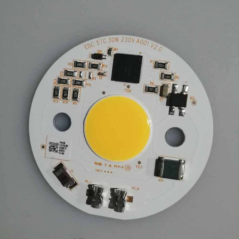1pcs DIY Hydroponice AC110V-220V 30W 40W COB LED Grow Light 3500K Chip 380nm-780nm For Indoor Plants Seedlings And Flowers