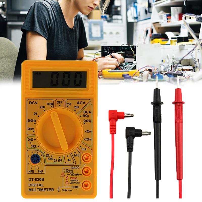 Junejour LCD Digital Multimeter Digital Mini Multimeter probe For Voltmeter Ammeter Ohm Tester Meter with Ohm Volt Amp and Diode
