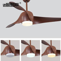 52 inch wood led Ceiling Fan With Lights Remote Control Inverter air 220 V Bedroom Lights Fans Lamp LED Bulbs wooden Ultra quiet