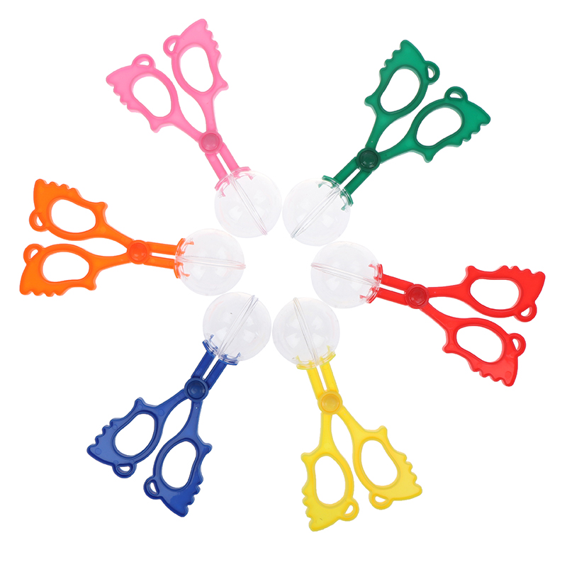 1pc Plastic Bug Insect Catcher Scissors Tongs Tweezers For Kids Children Handy Tool DIY Craft Toys