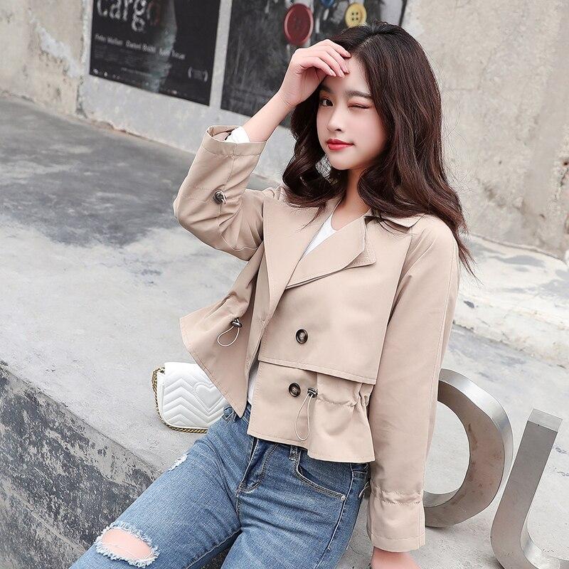 2020 new Spring Autumn Women Jacket fashion Lapel Outwear women Loose Coat female Single-breasted Windbreaker tops