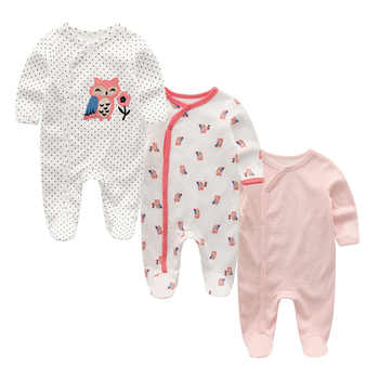3 PCS/lot newbron winter Baby Rompers Long Sleeve set cotton baby junmpsuit girls ropa bebe baby boy girl clothes