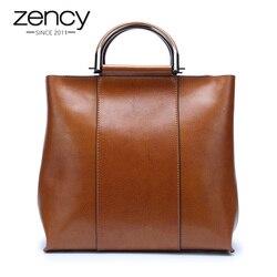 Zency 6 цветов, известный бренд, дизайнерская женская сумка, повседневная сумка-тоут, высокое качество, винтажная женская сумка-мессенджер, кор...