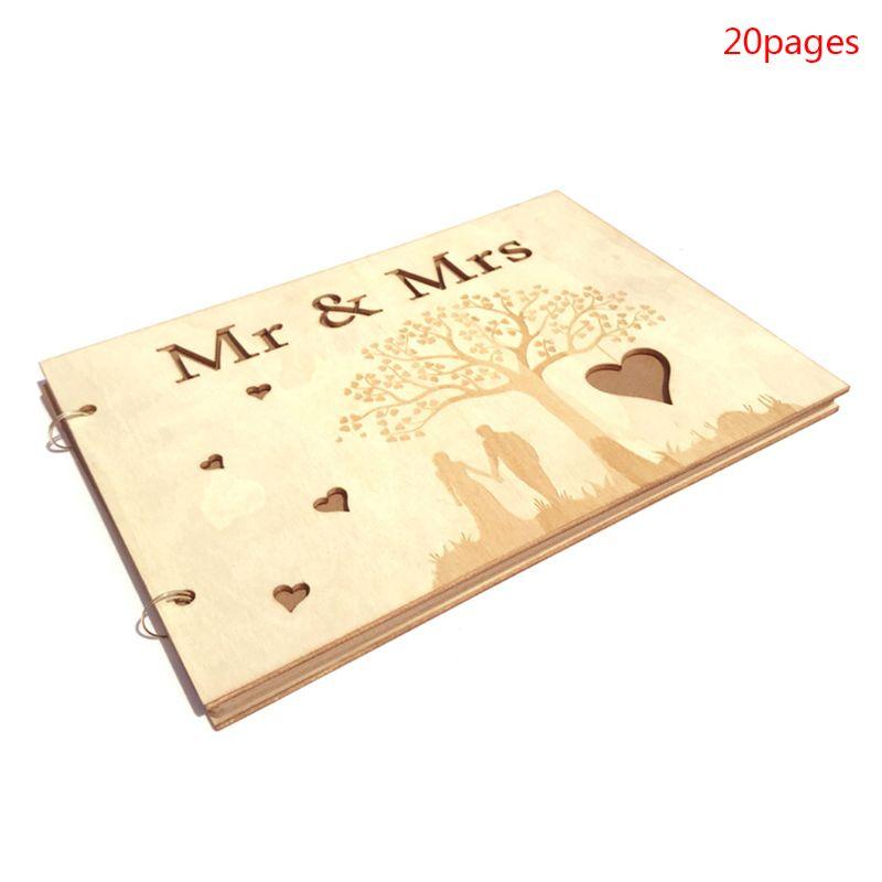 Mr Mrs Arbre Coeur Mariage Livre D Or Personnalise Rustique En Bois Livre D Or Photo Memoire Livre Album Anniversaire Cadeau