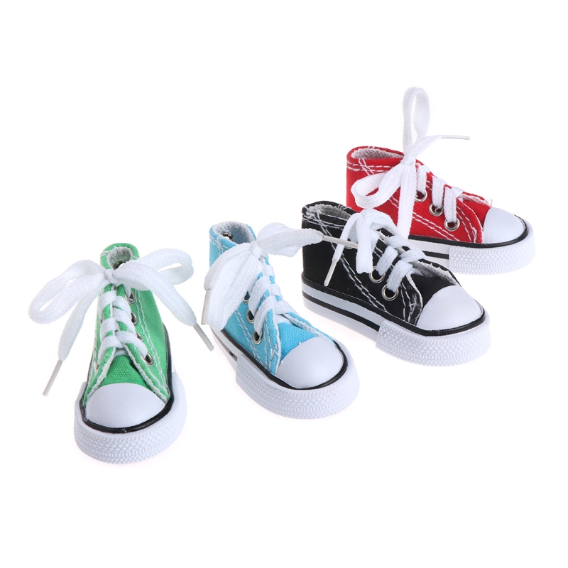 Bird Toys Mini Canvas Shoes Chew Bite Decoration Hanging Cage Funny Parrot Craft