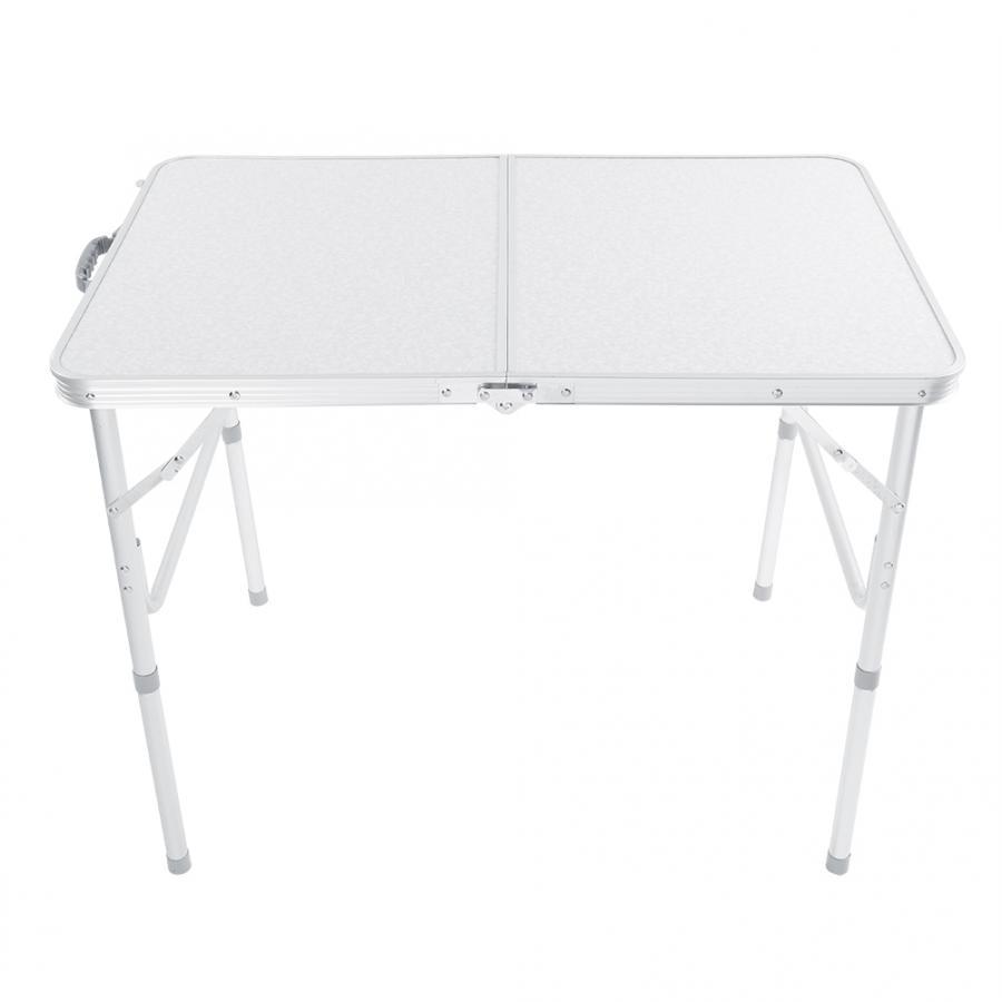 Mesa dobrável portátil de acampamento ao ar livre móveis liga alumínio computador mesas piquenique mesa dobrável para festa da família picnicbbq