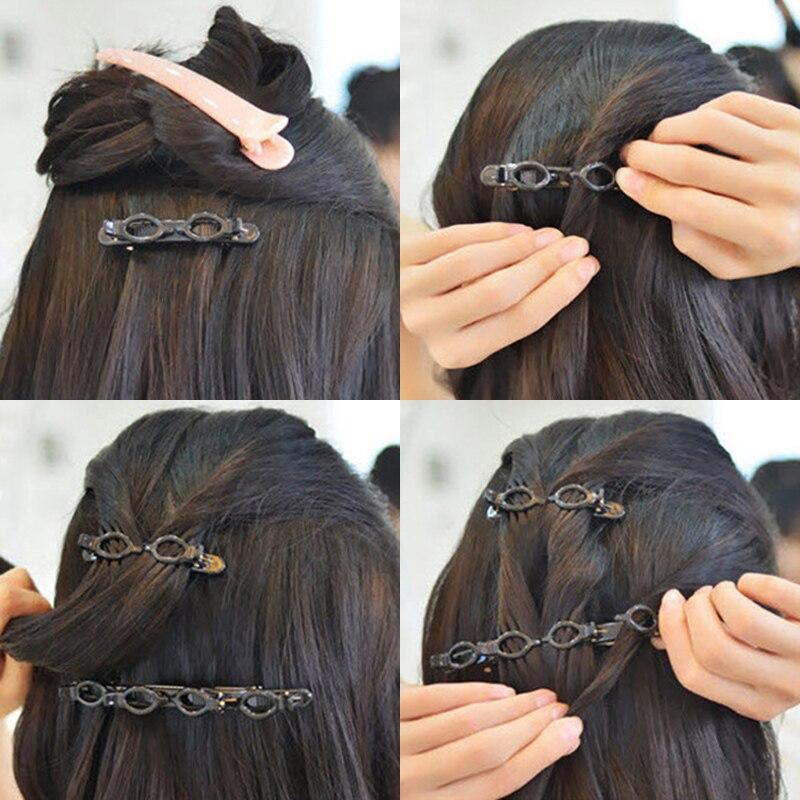 Горячая двойная челка прическа заколка для волос Прямая поставка