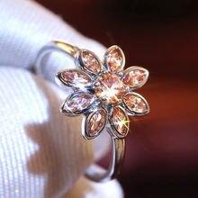 Ustar Роскошные ААА блестящие кубические циркониевые цветочные