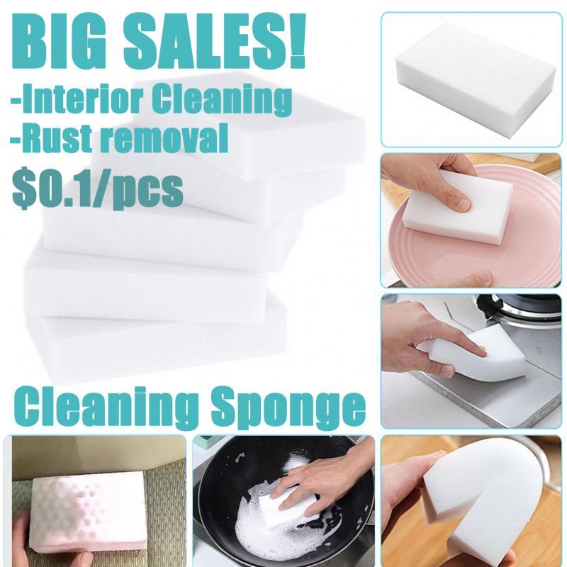 1Pcs Melamine Sponge Magic Sponge Eraser Car Cleaning Sponges Auto Interior Leather Eraser Cleaning Kitchen Cleaning Tools