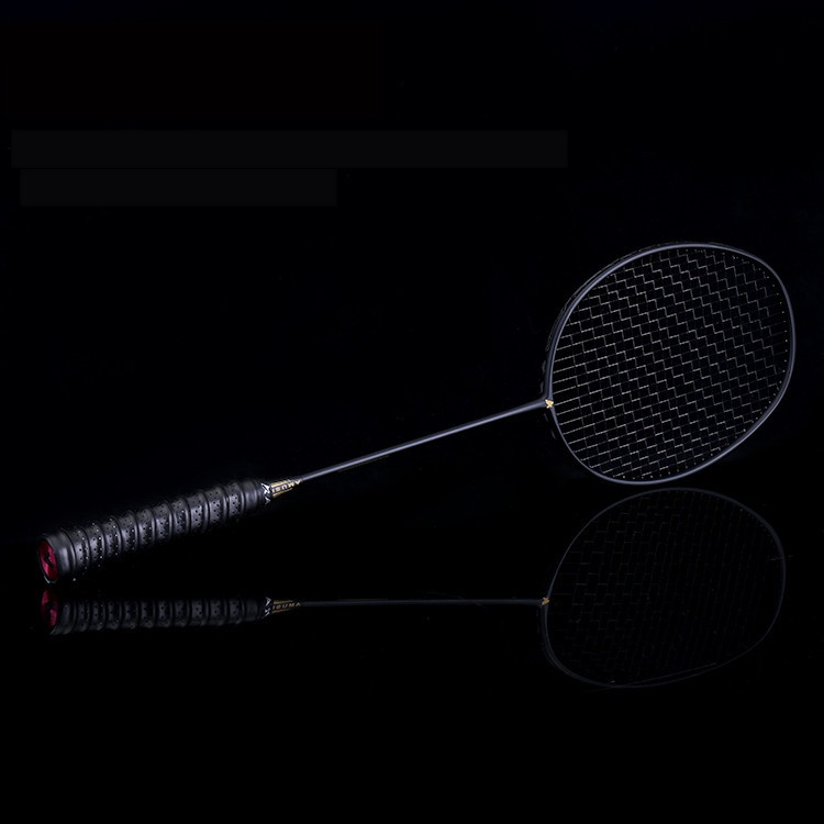 Badminton Racket Full Carbon Training Single Shot Carbon Fiber 4U Single Shot Ultra Light Platform Small Black Racket Badminton
