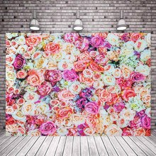 Photo Studio 150x100/220x150cm 2sides Flower sea background birthday party holiday party photo photography curtain(China)