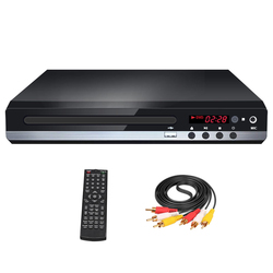 Remote Control MIC Input CD DVD Player With Cable USB HDMI For TV Home Portable LED Display Player DVD MP3 3D Playback