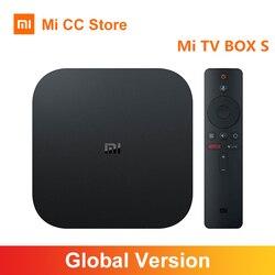 النسخة العالمية شاومي Mi TV Box S 4K الترا HD أندرويد TV 8.1 HDR 2G 8G واي فاي جوجل يلقي Netflix الذكية TV Mi Box 4 ميديا بلاير