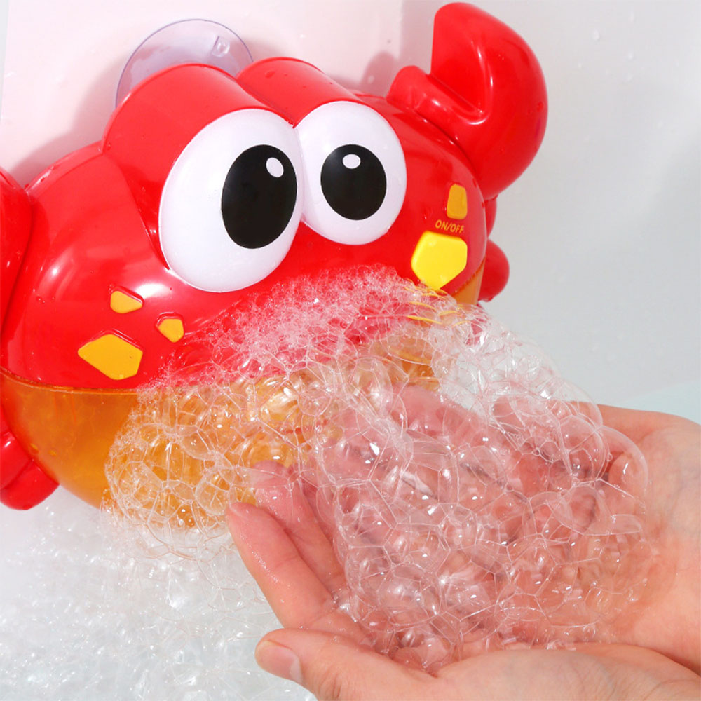 Bubble Crabs Music Baby Bath Toys Kids Pool Swimming Bathtub Soap Machine Automatic Bubble Funny Crab Frog Whale Duck Octopus