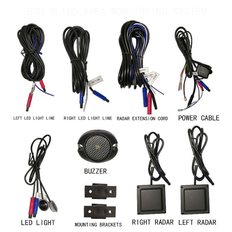 Surveillance des angles morts de voiture système de détection Radar BSD BSA BSM capteur micro-ondes Assistant de conduite de voiture sécurité
