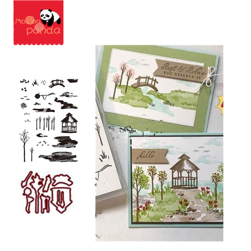 MP088 MEADOW Metal Cutting Dies And Stamps Scrapbooking Stencils For Craft Paper DIY Scrapbook New Dies Cut Template