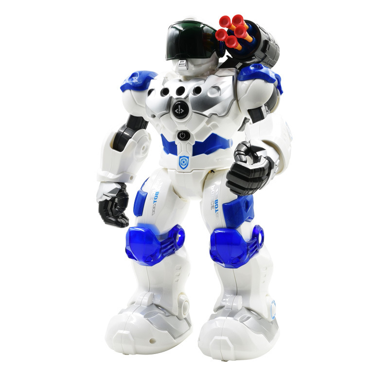 AMWELL New Weir 8088 Machinery Cops Police Firefighting Robot Programming Smart Remote Control CHILDREN'S Toy 9088