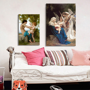 Song of the Angels Canvas Painting Nude Poster And Print Wall Art Classical Famous Paintings By William Pictures For Living Room