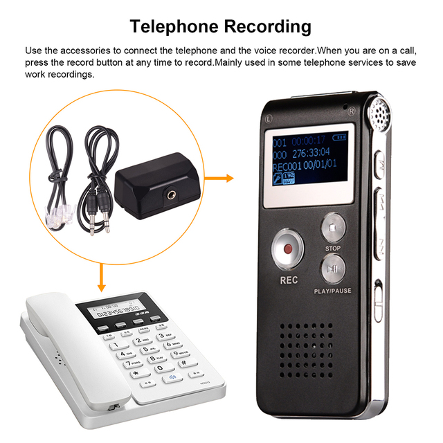 8GB Voice Activated Recorder for Telephone Recording 4