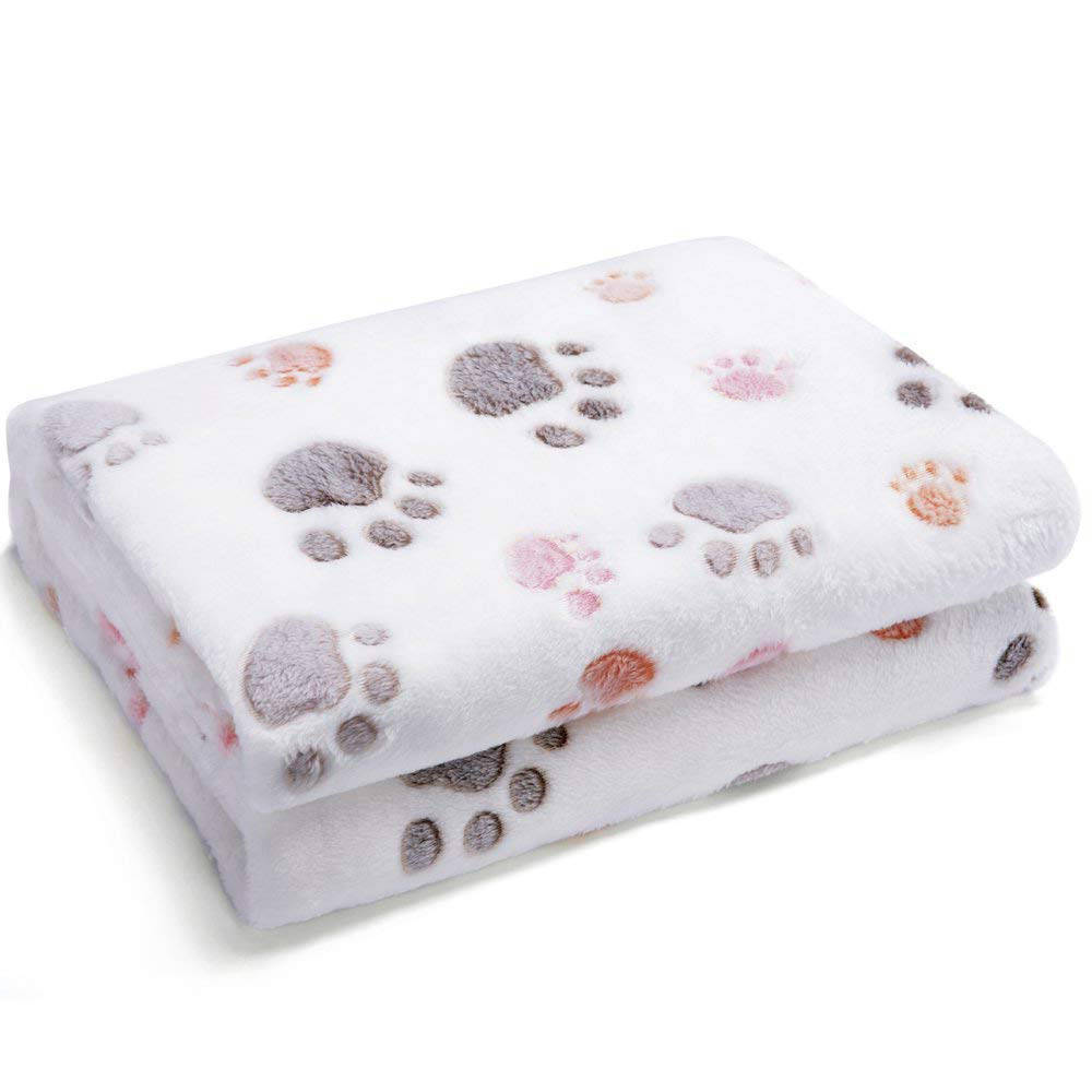 Warm Winter Pet Dog Bed Blanket Coral Fleece Soft Touch Large Size Printed Cat Sleeping Quilt Mats Home Decoration Pets Product