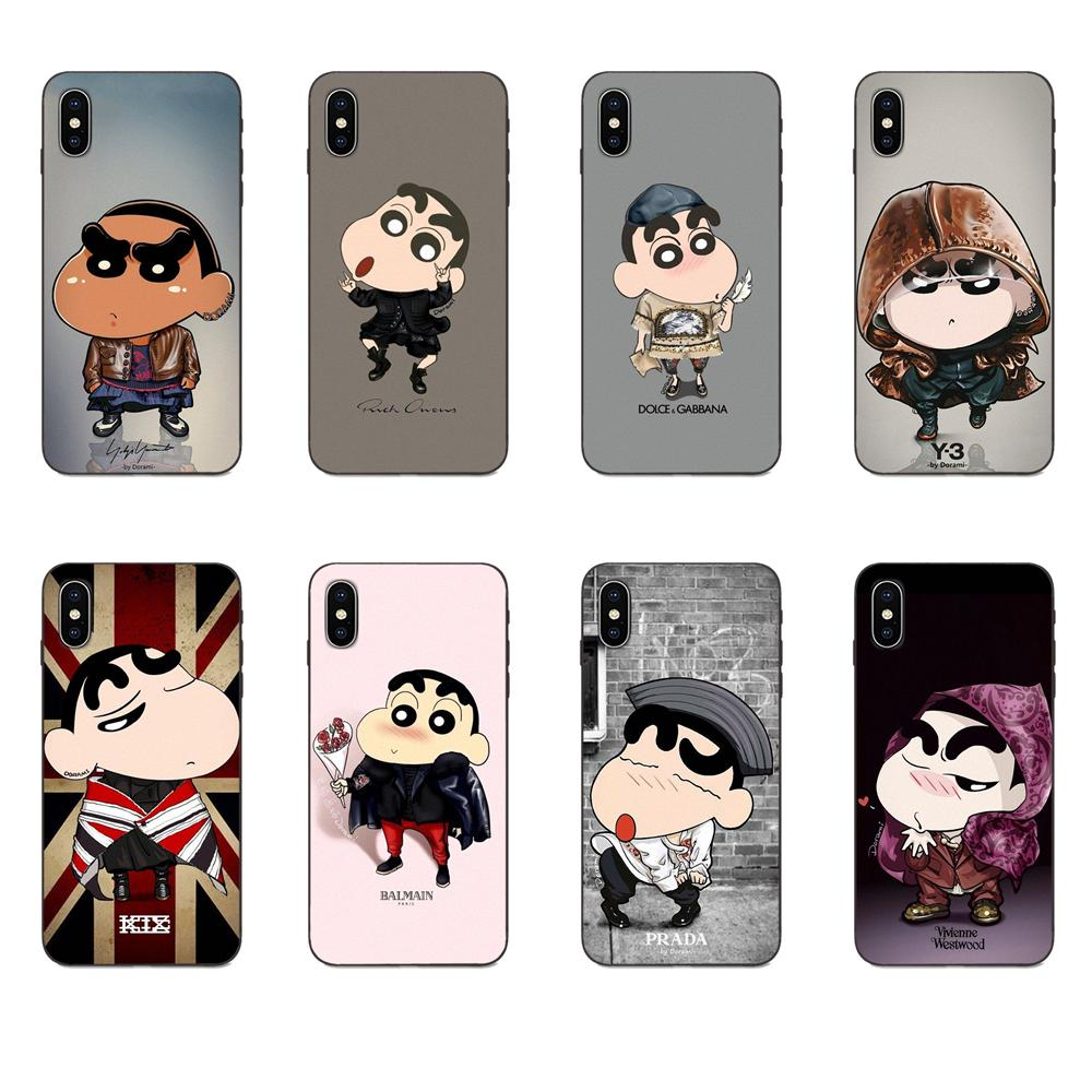 Soft Protector Cases Cool Crayon Shin Chan For Xiaomi Mi Mix Max Note 2 2S 3 5X 6 6X 8 9 9T SE A1 A2 A3 CC9e Lite Play Pro F1